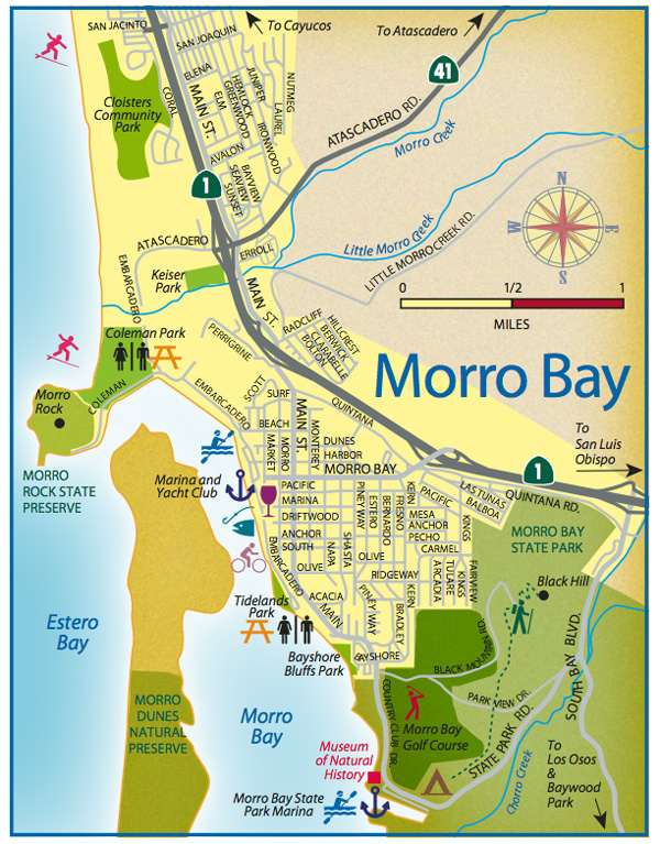 los osos california map with Morro Bay Visitors Guide on Watch moreover Bandginkauai blogspot in addition Things To Do in addition Cayucos Visitor Guide further Homes For Sale In Morro Bay Ca.