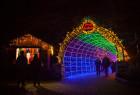Xmas light tunnel at Cambria Christmas Market
